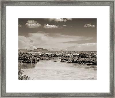 Rio Grande In Sepia Framed Print