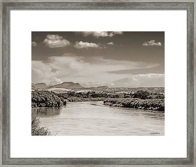 Rio Grande In Sepia Framed Print by Allen Sheffield