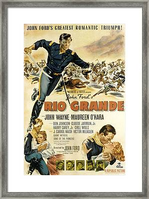 Rio Grande, John Wayne, Claude Jarman Framed Print by Everett