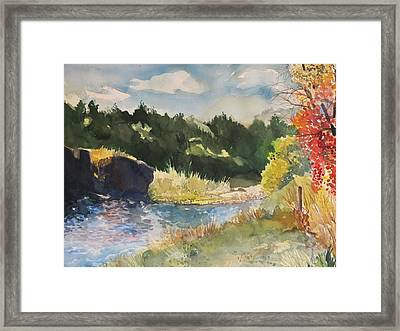 Rio Grande River Fall Framed Print by Milledge Bennett