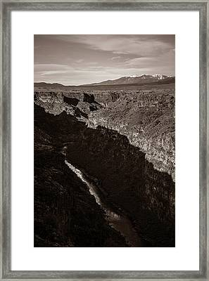 Framed Print featuring the photograph Rio Grande River Taos by Marilyn Hunt