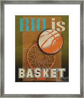 Rio Is Basketball Framed Print by Joost Hogervorst