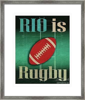 Rio Is Rugby Framed Print by Joost Hogervorst