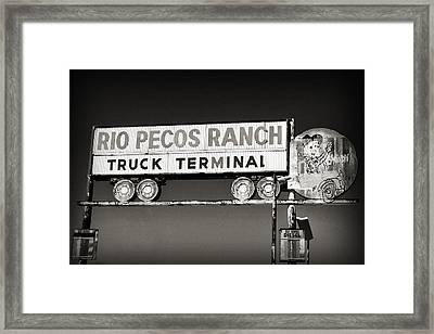 Rio Pecos Ranch Truck Terminal Framed Print
