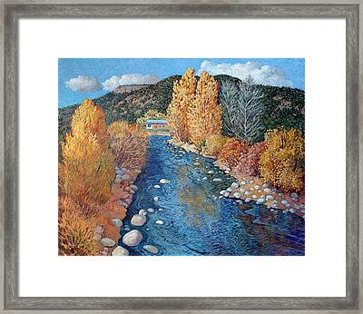 Rio Pueblo Framed Print by Donna Clair