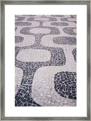 Rio Sidewalk Framed Print