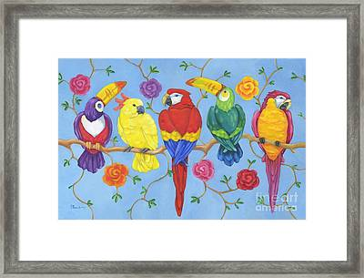 Rio Tropical Birds Framed Print by Paul Brent
