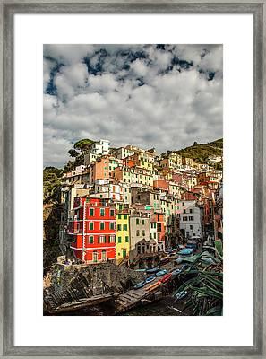 Riomaggiore 1 Framed Print by Art Ferrier