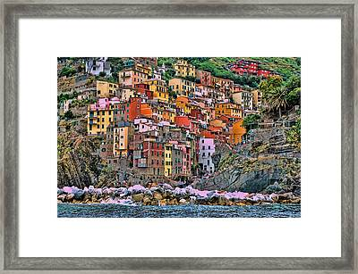 Framed Print featuring the photograph Riomaggiore by Allen Beatty