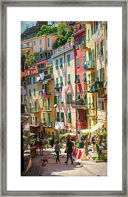 Riomaggiore Cinque Terre Afternoon Framed Print