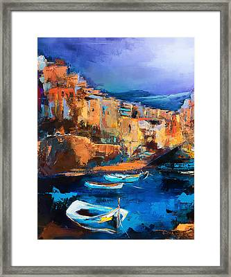 Riomaggiore - Cinque Terre Framed Print by Elise Palmigiani