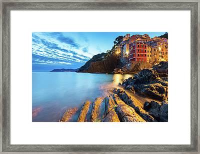 Riomaggiore Framed Print by Evgeni Dinev