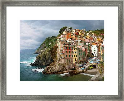 Riomaggiore Italy Framed Print by Cliff Wassmann