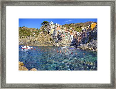 Framed Print featuring the photograph Riomaggiore by Spencer Baugh