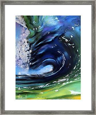 Rip Curl - Dynamic Ocean Wave  Framed Print by Prashant Shah