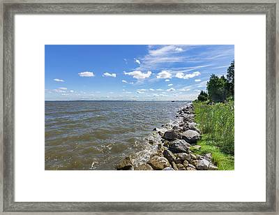 Framed Print featuring the photograph Rip-rap On The Chester River by Charles Kraus