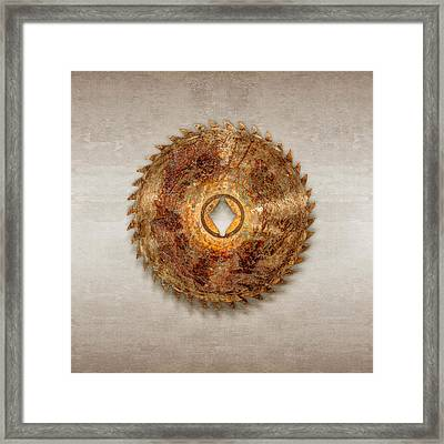 Rip Tooth Sawblade Framed Print by YoPedro