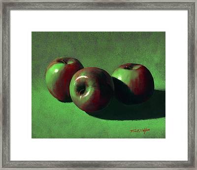 Ripe Apples Framed Print by Frank Wilson