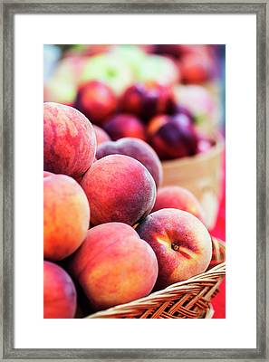 Ripe Peaches For Your Kitchen Framed Print