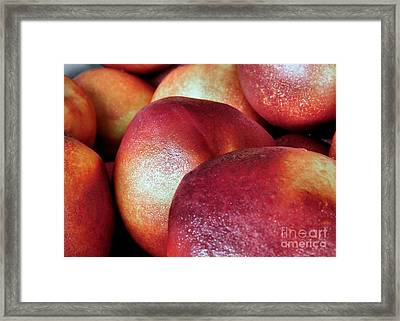 Ripe Peaches Framed Print by Janice Drew