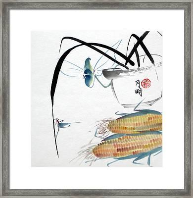 Ripen Corns Framed Print by Ming Yeung