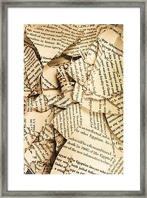 Ripped Up Pages Framed Print