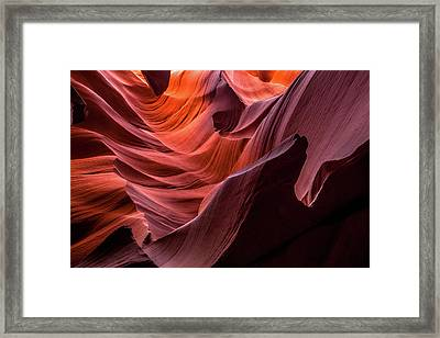 Ripple Of Color Framed Print