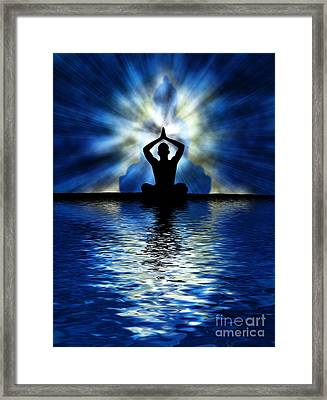 Ripple On An Ocean Framed Print by Tim Gainey