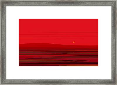 Ripple - Red Framed Print