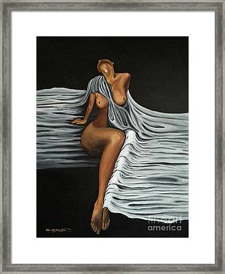 Ripple Shawl Framed Print by Fei A