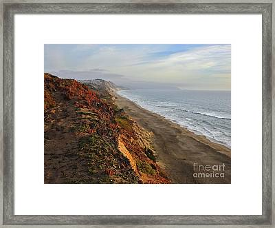Rippled By Wind And Water Framed Print