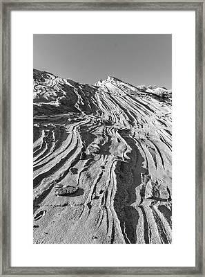 Rippled Sandstone At Waterhole Canyon Framed Print