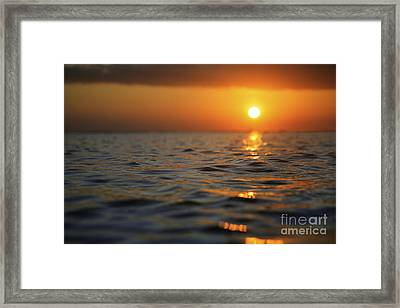 Rippled Sunset Framed Print by Brandon Tabiolo - Printscapes