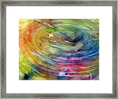 Framed Print featuring the painting Ripples by Allison Ashton