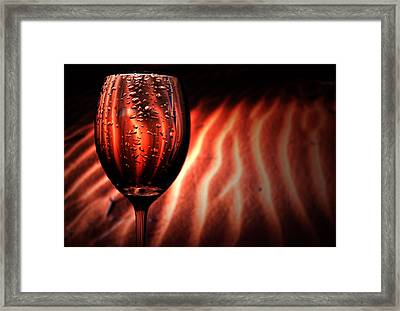 Ripples And Droplets Framed Print