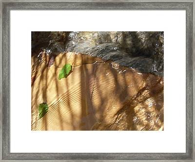 Ripples And Shadows Framed Print by Warren Thompson