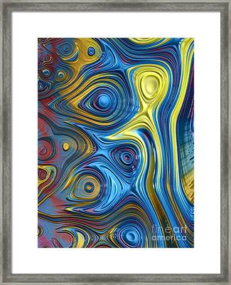 Ripples In A Rainbow Framed Print