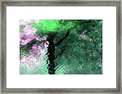 Ripples In Pink Framed Print by Carolyn Stagger Cokley