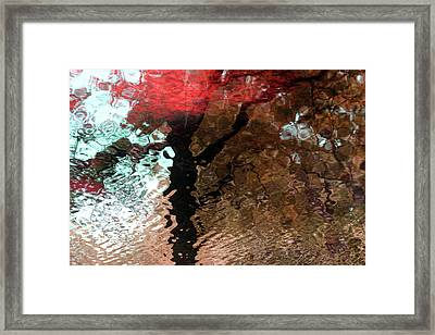 Ripples In Red Framed Print by Carolyn Stagger Cokley