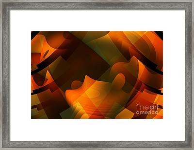 Ripples In The Mind Framed Print by John Edwards