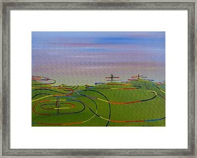 Ripples Of Life 1.2 Framed Print by Tim Mullaney