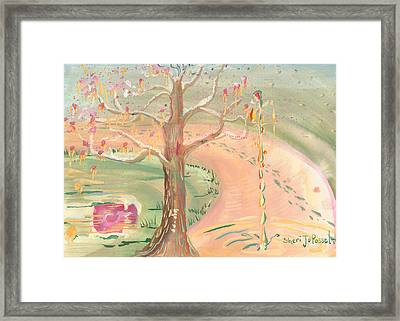 Ripples Of Spring Framed Print
