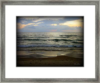 Ripples On The Shore Framed Print by Trina Prenzi