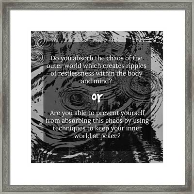 Ripples Framed Print by Pathway Immersion