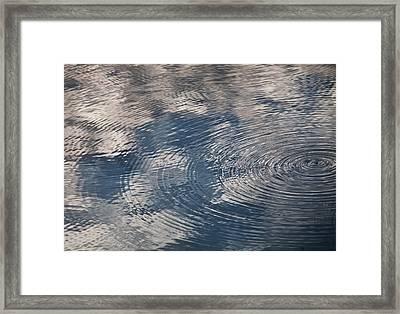 Ripples Framed Print by Richard Stephen