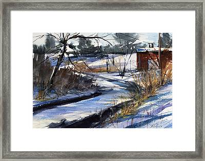 Rippleton Road River Framed Print by Judith Levins