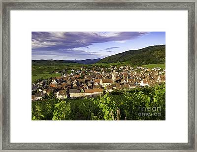 Riquewihr Morning Framed Print