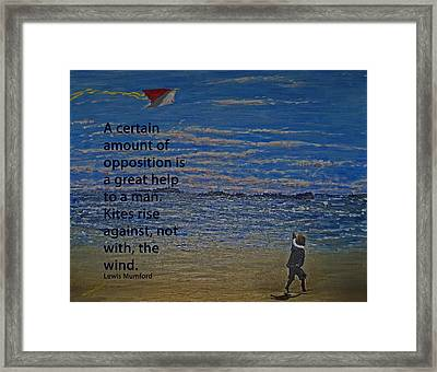 Rise Against The Wind Framed Print by Ian  MacDonald