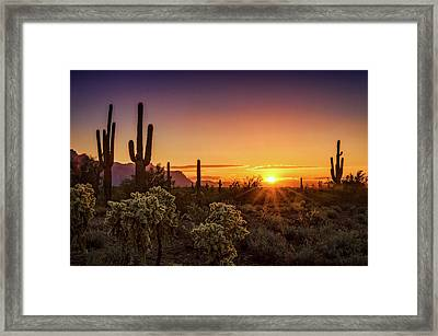 Framed Print featuring the photograph Rise And Shine Arizona  by Saija Lehtonen