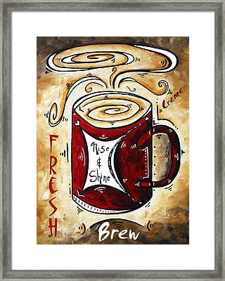 Rise And Shine By Madart Framed Print by Megan Duncanson